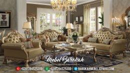 Sofa Tamu Jepara Mewah Gold Duco 2019 MB-0303