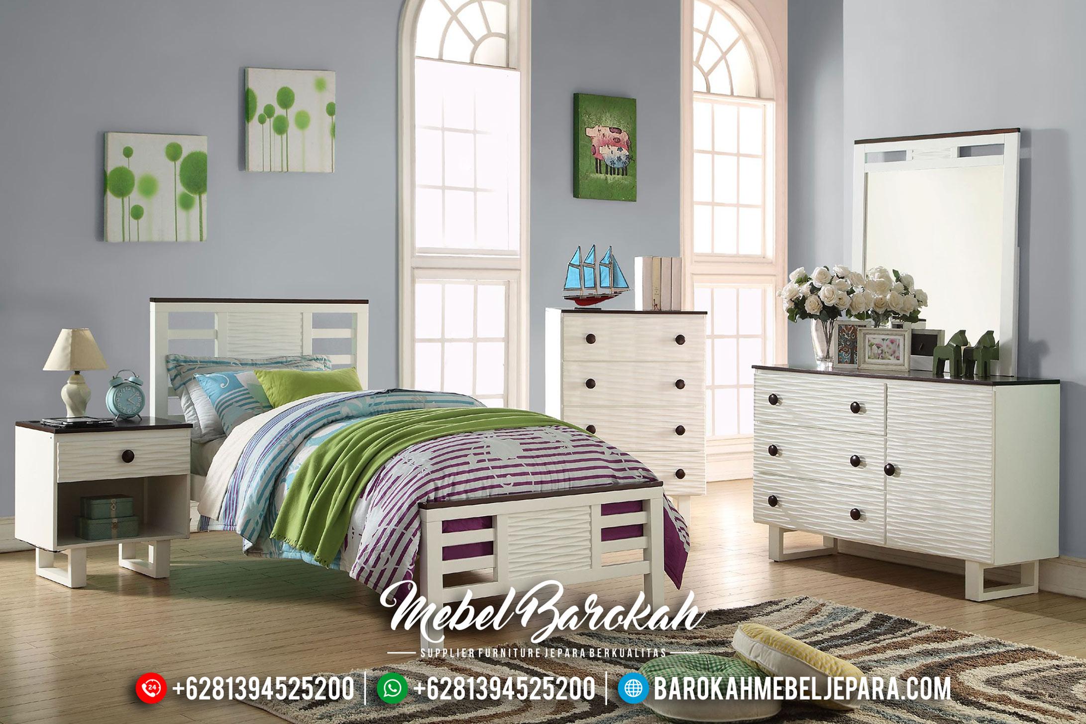 Desain Modern Set Kamar Anak Putih Duco Terbaru MB-0421