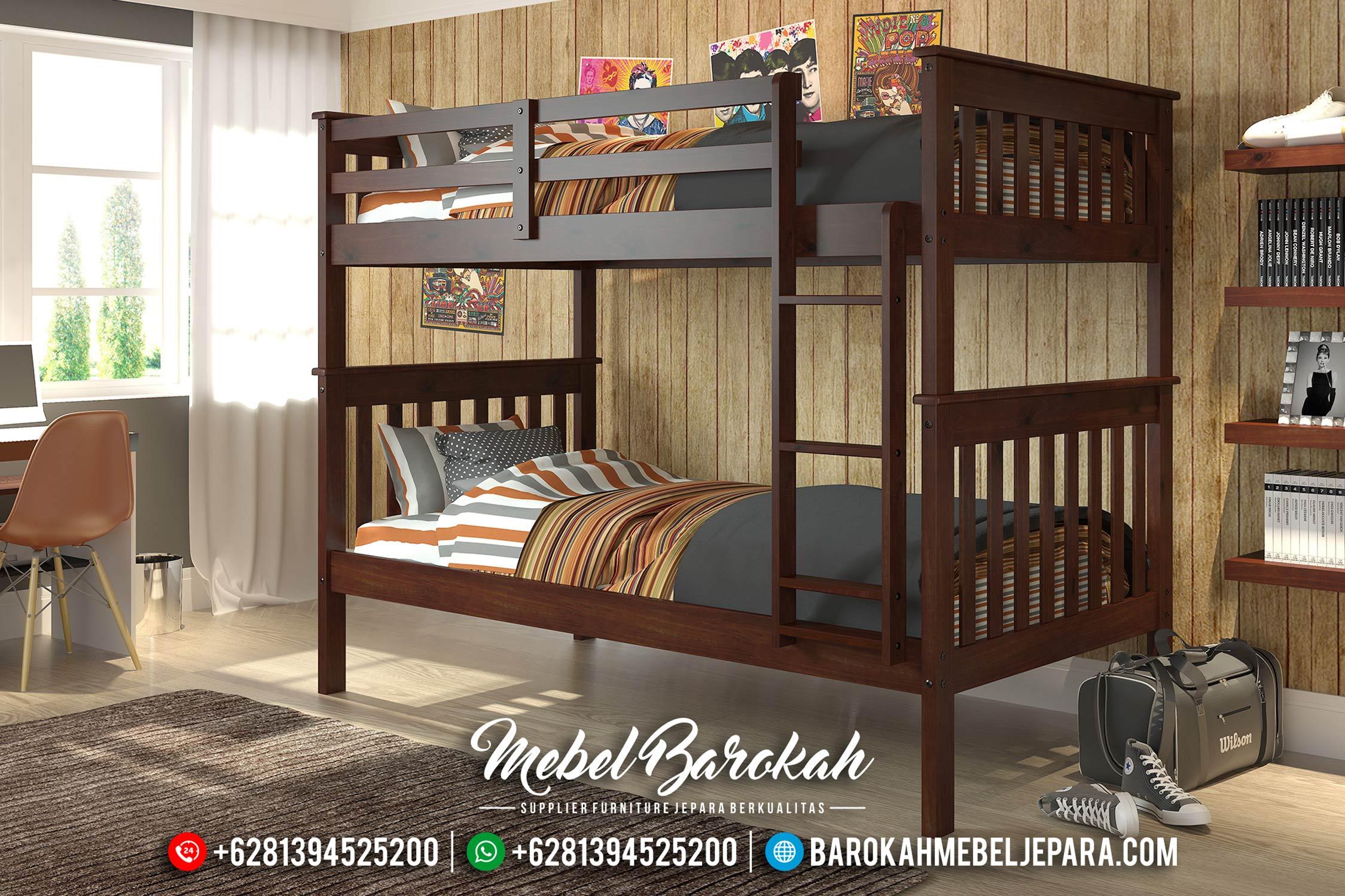 Dipan Tingkat Set Kamar Tidur Anak Jati Natural MB-0352