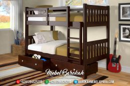 Furniture Jepara Dipan Anak Tingkat Natural Jati Perhutani TPK MB-0356