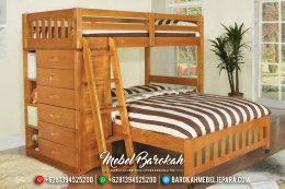 Harga Set Kamar Anak Tingkat Natural Jati Perhutani MB-0420