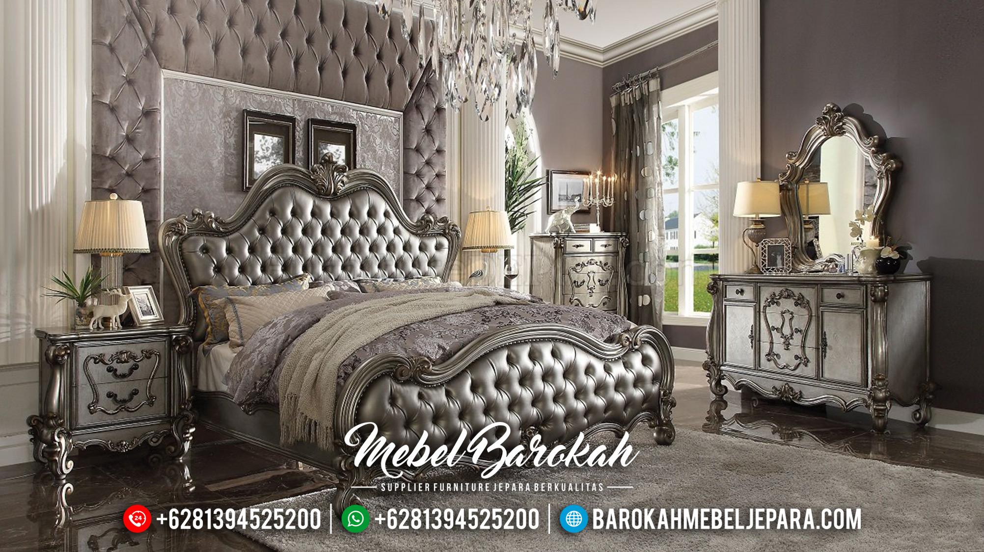 Jual Kamar Set Mewah Jepara Silver Glossy Duco MB-0352