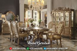Jual Meja Makan Mewah Champagne Color MB-0332