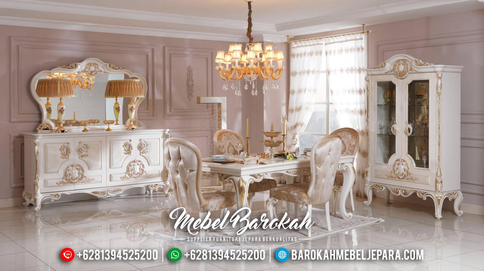 Jual Meja Makan Mewah Jepara Luxury 2020 MB-0378