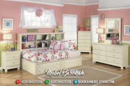 Jual Set Kamar Anak Cat Putih Duco Jepara MB-0423