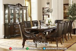 Luxury Klasik Meja Makan Mewah Natural New Release MB-0334