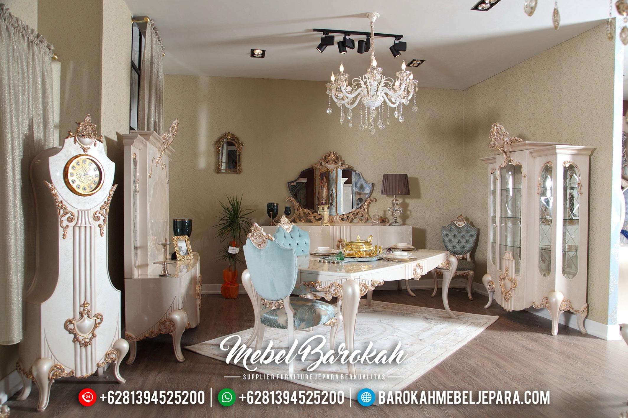 Mebel Jepara Terbaru Meja Makan Mewah Full Interior Design 2020 MB-0405