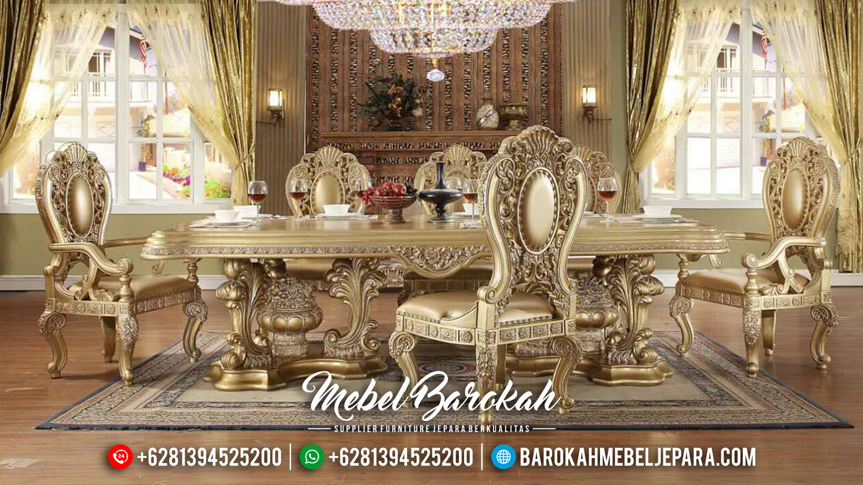 Mebel Terbaru Meja Makan Mewah Gaya Sultan MB-0403