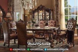 Meja Makan Mewah Jati, Meja Makan Mewah Natural, Meja Makan Mewah Jepara Terbaru MB-0398