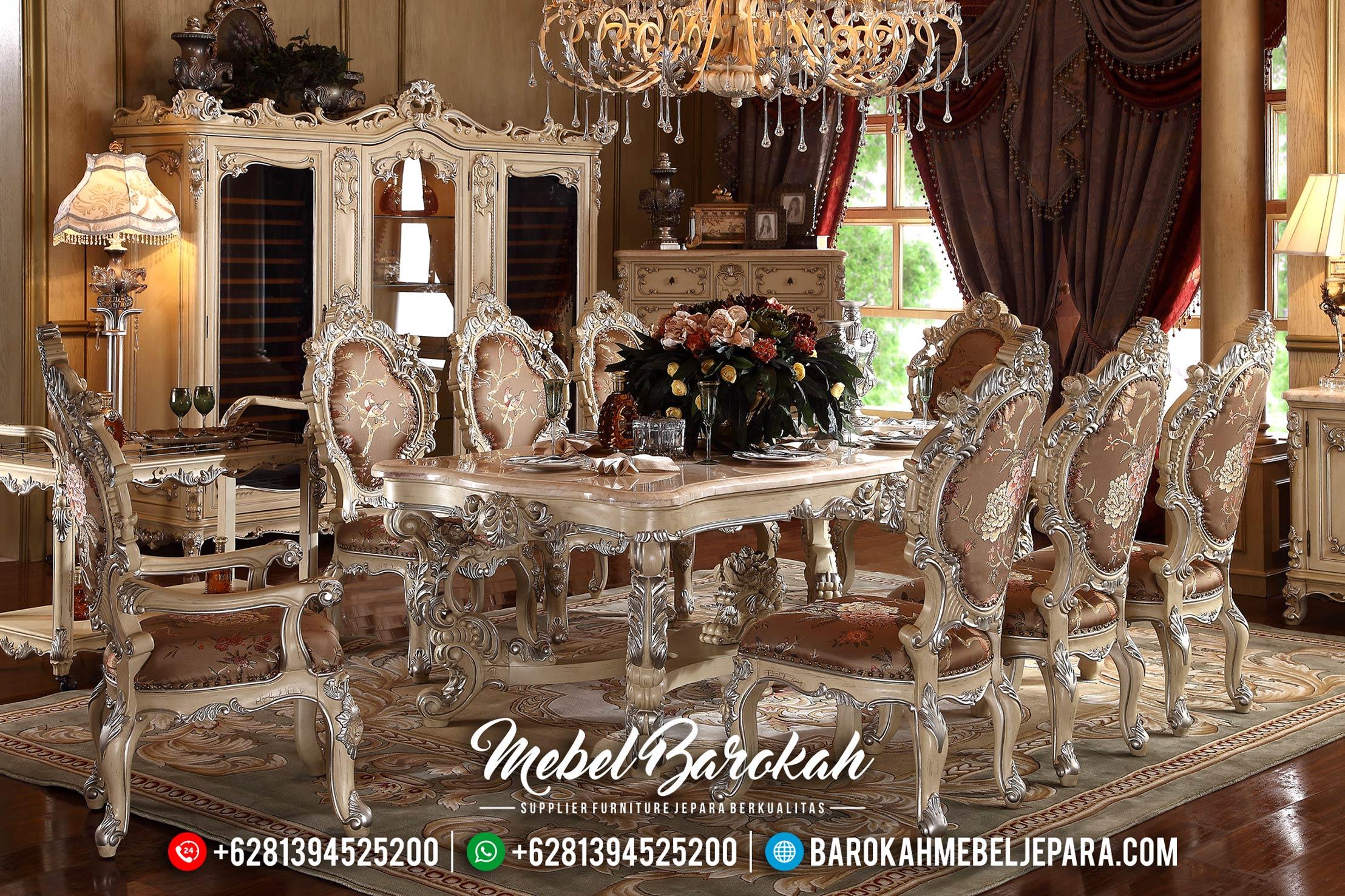 Meja Makan Mewah Minerva Desain Baru MB-0393