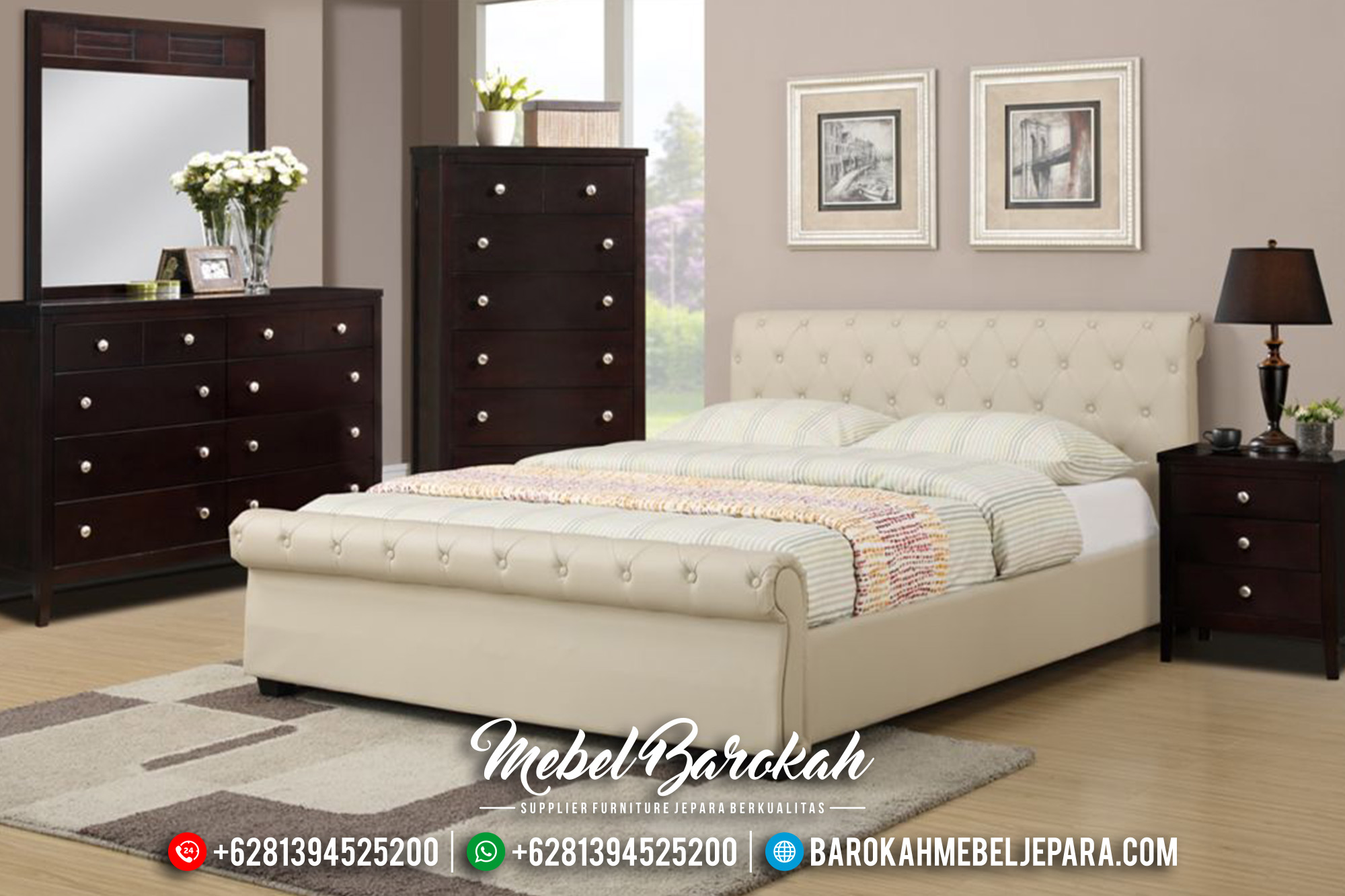Model Kamar Set Minimalis Gloria Modern Natural Furnishing MB-0417