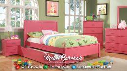 Model Terbaru Kamar Set Anak Pink Cantik Asli Jepara MB-0347