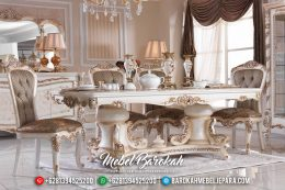 New 2020 Meja Makan Mewah Rococo Duco Glossy MB-0408