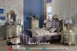 New Design Kamar Set Mewah Anak Silver Gloss Ukiran Jepara MB-0414