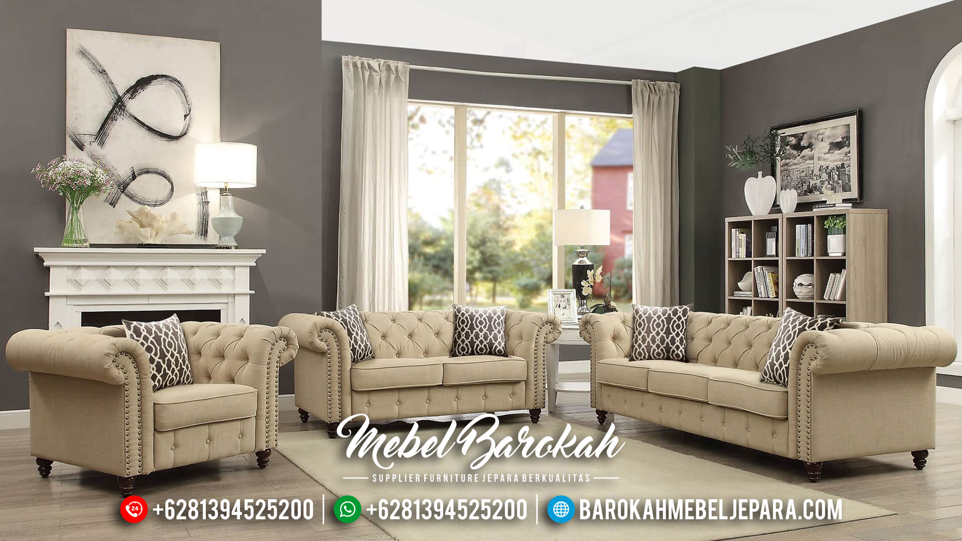 New Design Sofa Tamu Chesterfield Minimalis Modern 2020 MB-0430