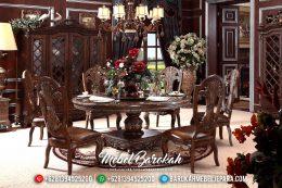 New Item Meja Makan Mewah Natural Jati Ukiran MB-0392