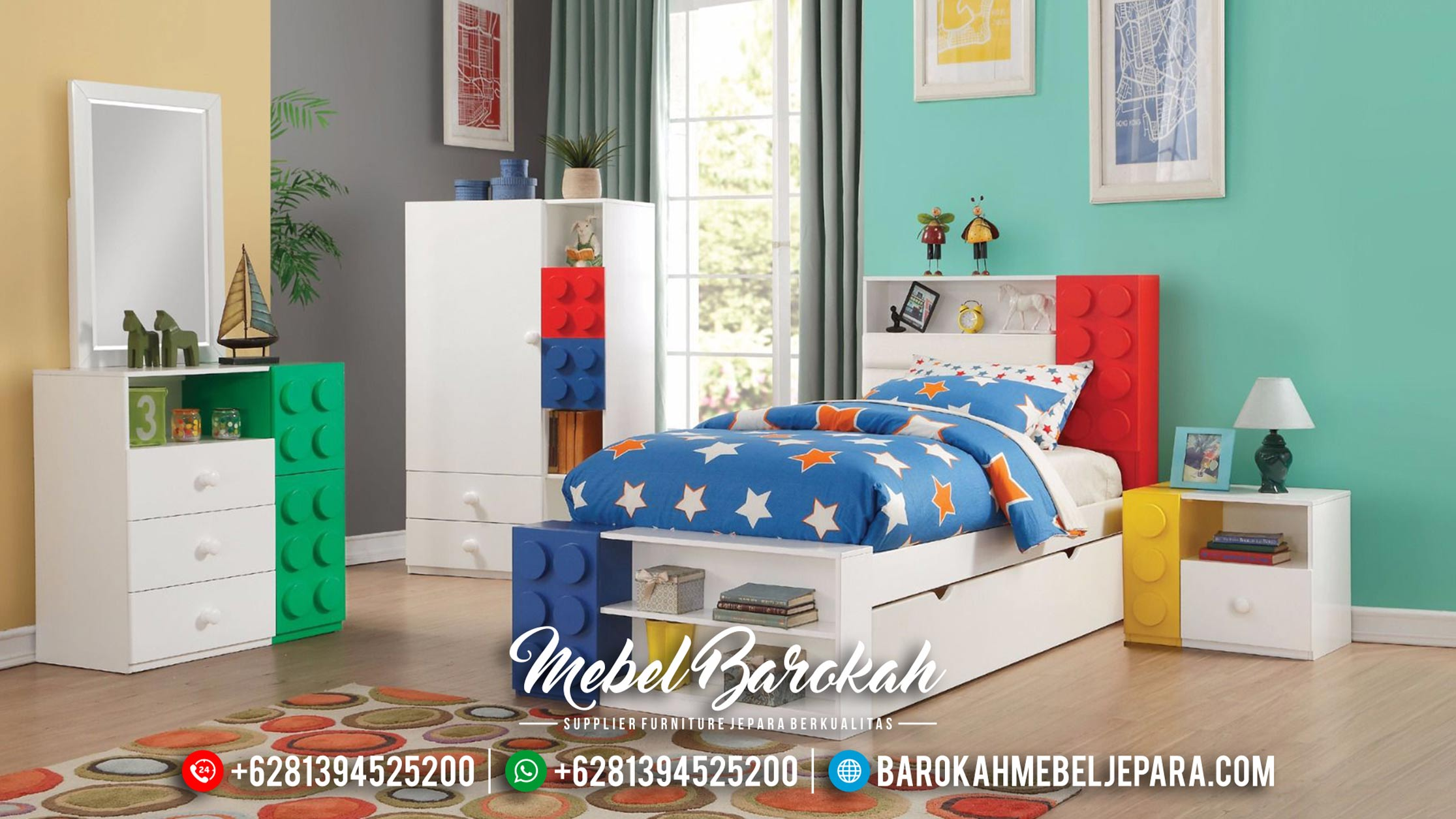 New Models Set Kamar Anak Modern Mebel Jepara MB-0351