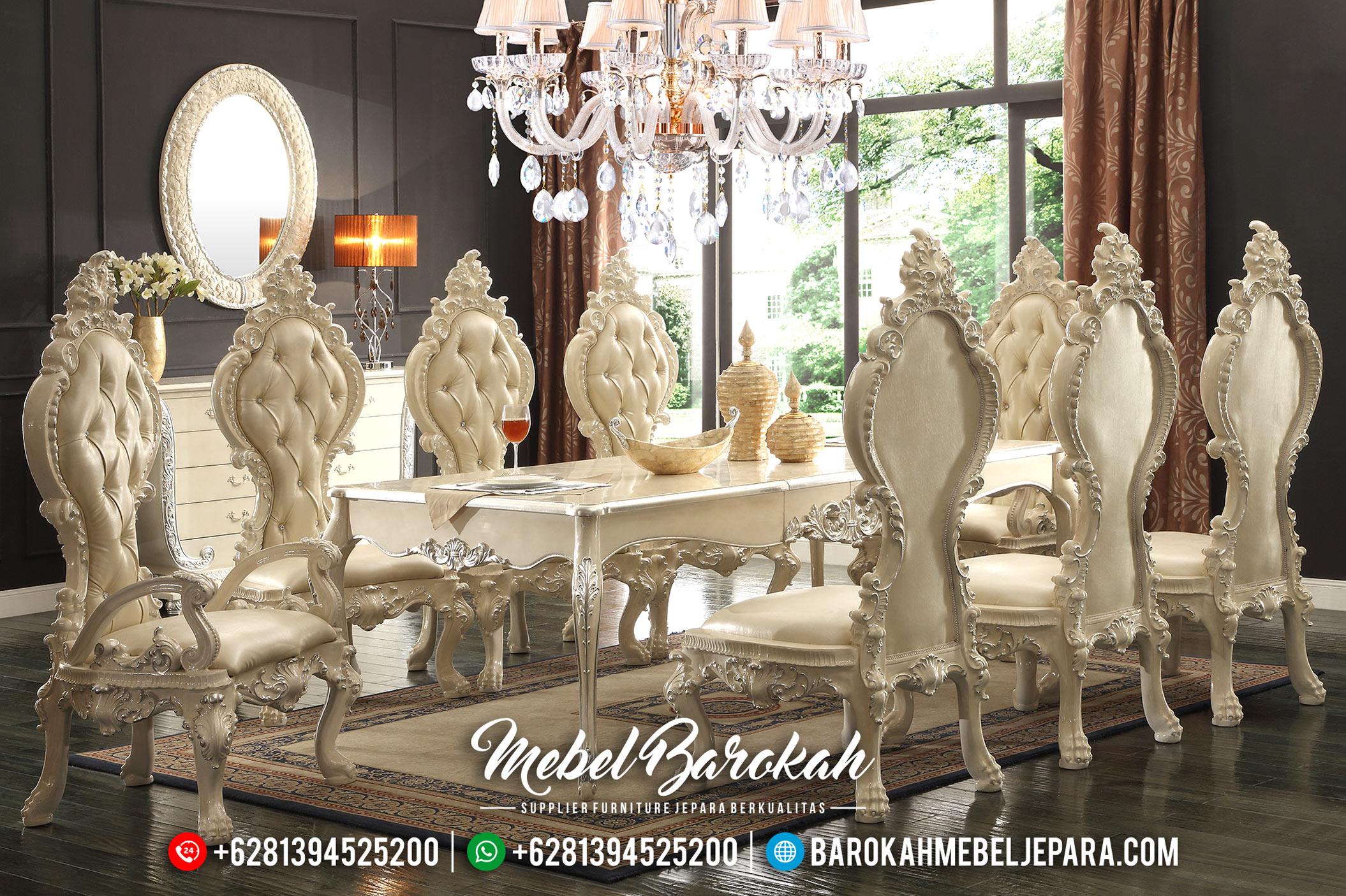 New Set Meja Makan Mewah Gaya Kerajaan Kolosal MB-0390