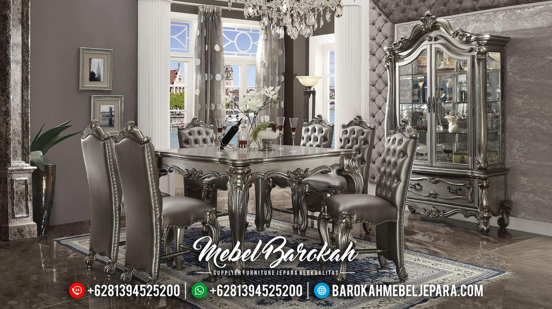 Sale 2020 Set Meja Makan Mewah Luxury Sylvester MB-0376