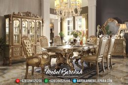 Super Luxury Meja Makan Mewah Golden Champagne MB-0400