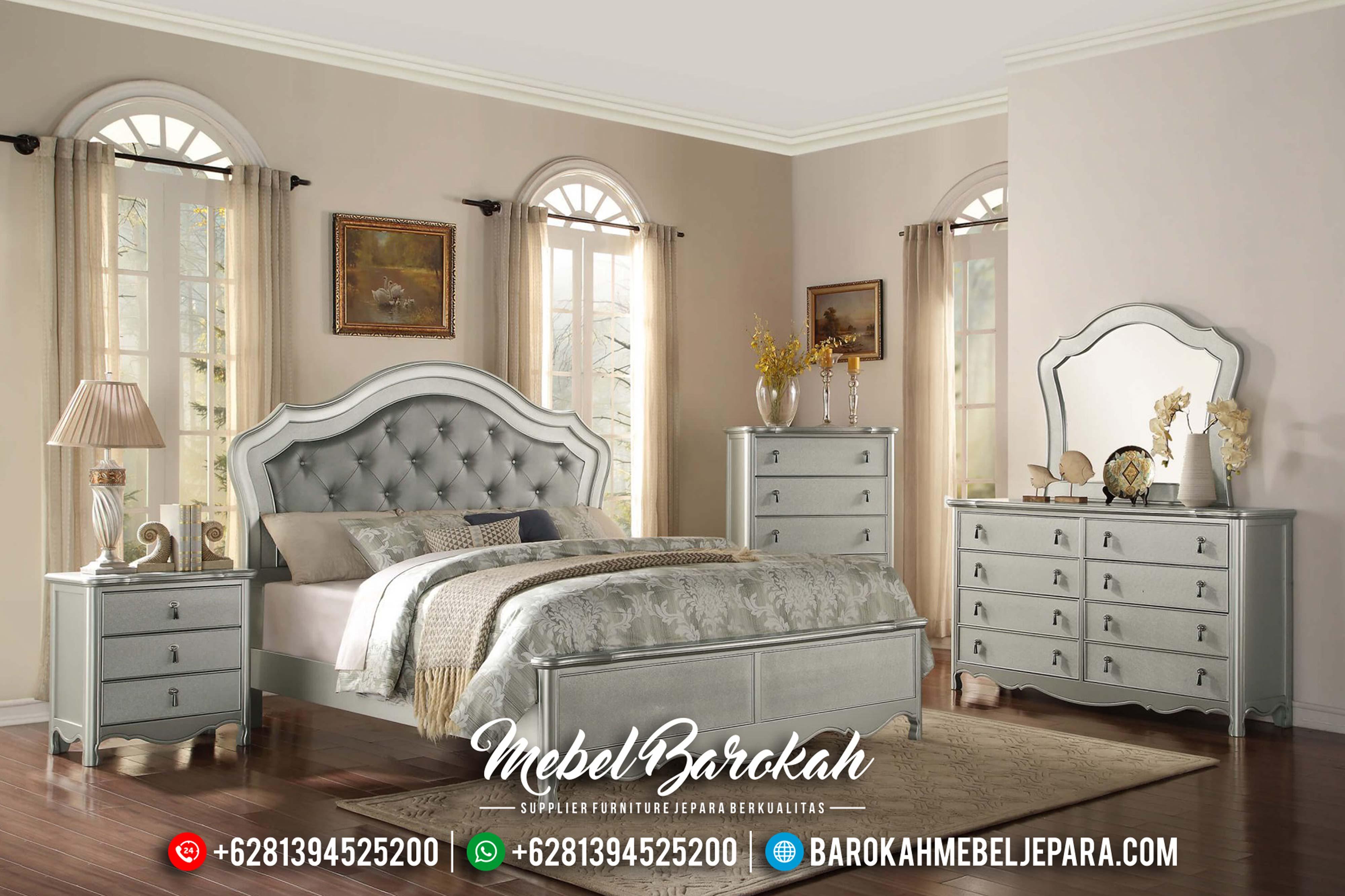 Terbaru Kamar Set Minimalis Modern Silver Duco Jepara MB-0418