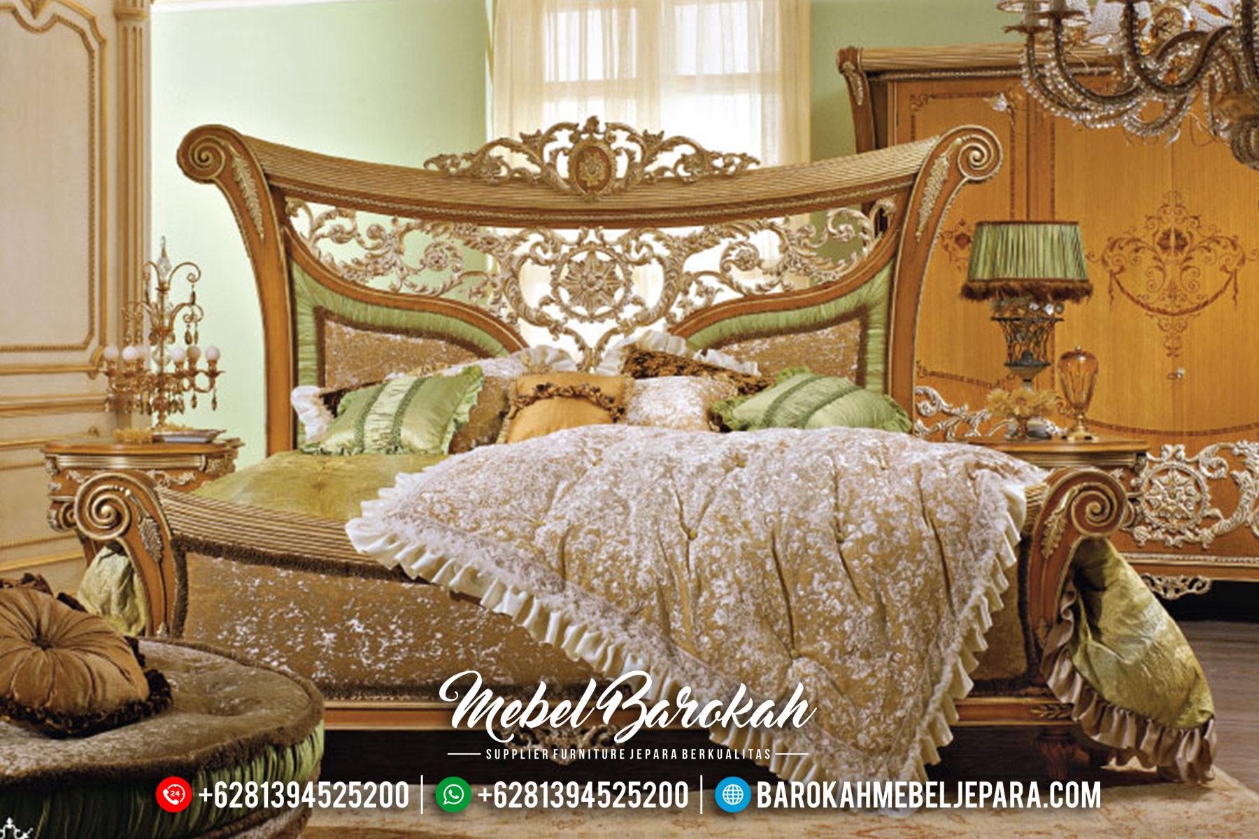 Terbaru Set Tempat Tidur Mewah Klasik Ukiran Asli Jepara MB-0356