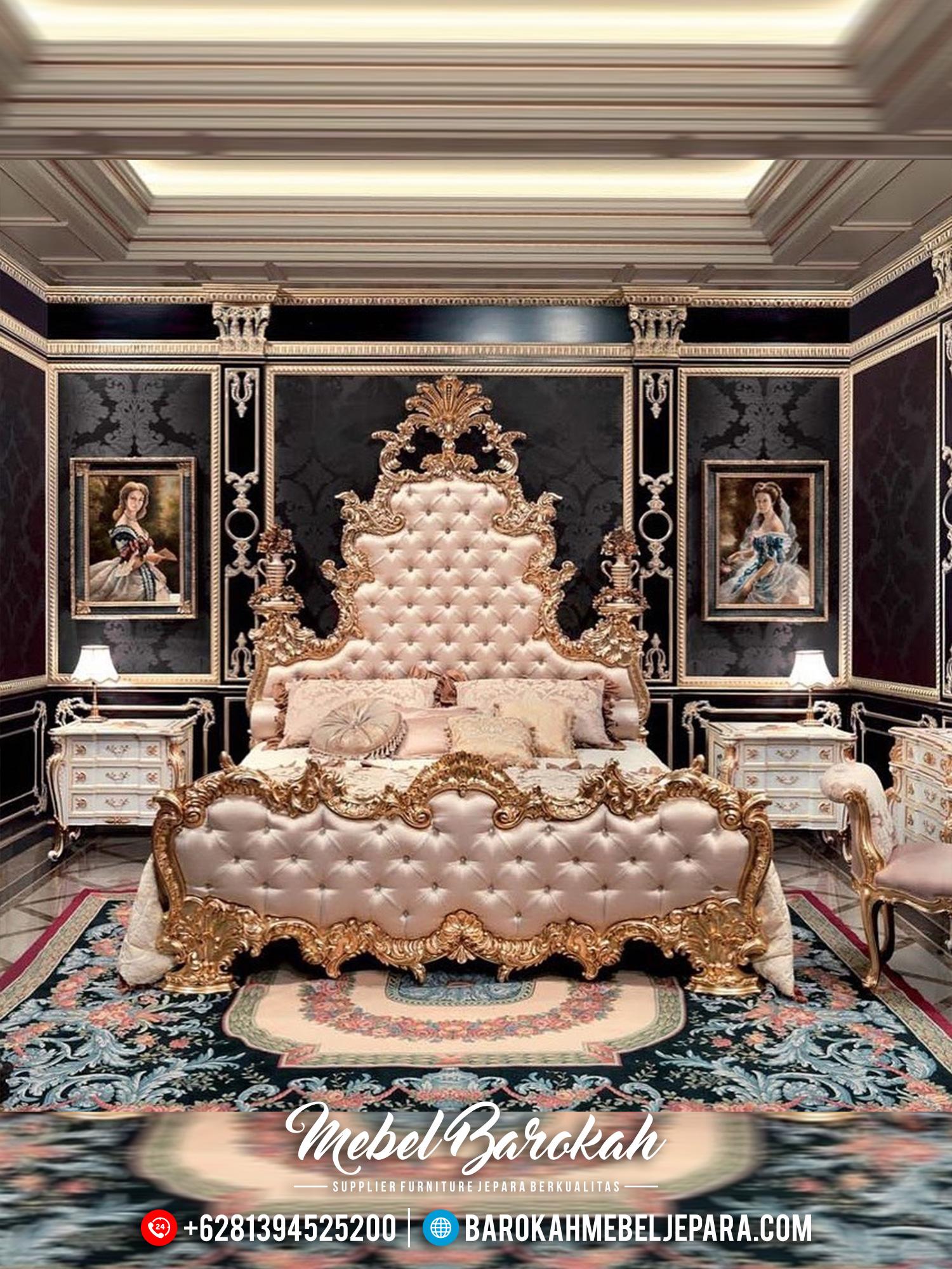 Bedroom Set Luxury, Kamar Set Mewah Ukiran Jepara MB-0450