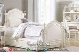 New Set Kamar Tidur Anak Princes Luxury White Duco MB-0446