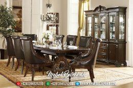 Set Meja Makan Jati Ukiran Klasik Eropa Asli Jepara MB-0435