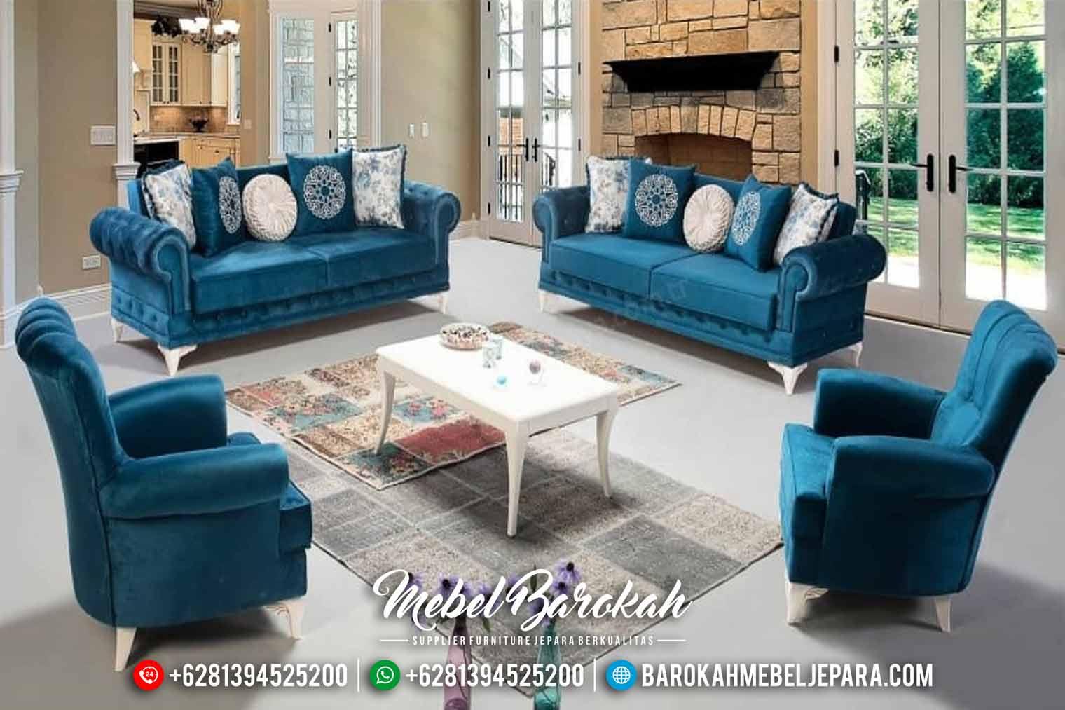Sofa Tamu Chesterfield New Design Natural MB-0454
