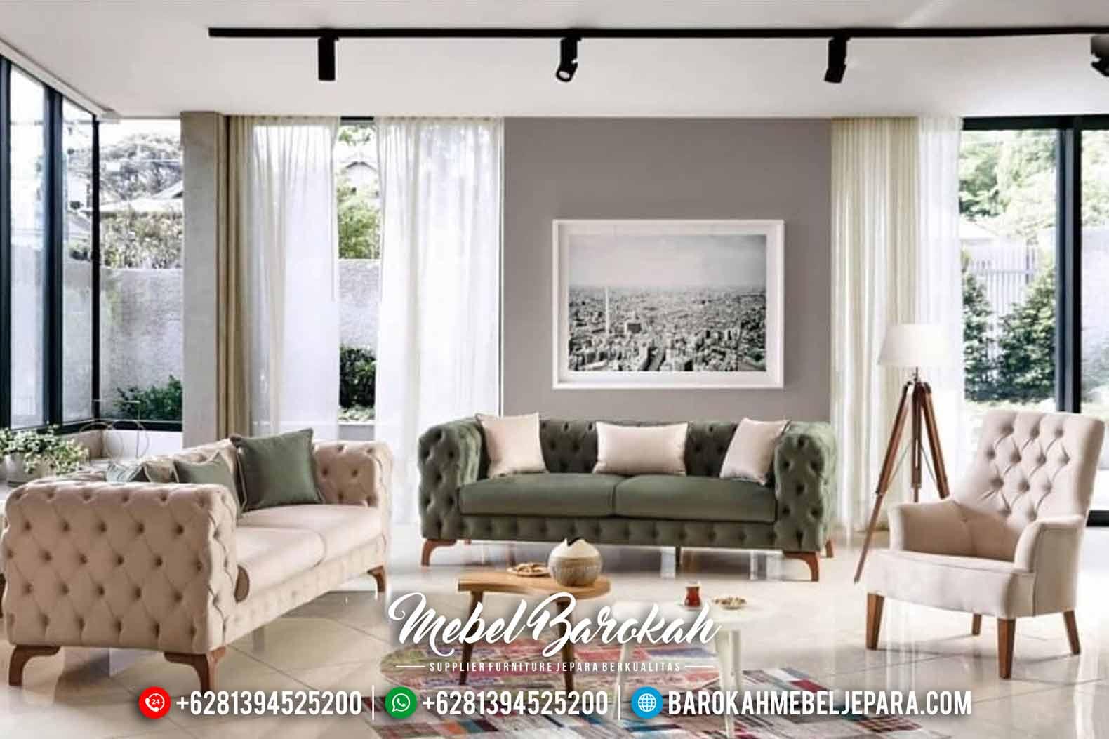 Sofa Tamu Modern Minimalis Chesterfield New Design 2020 MB-0452
