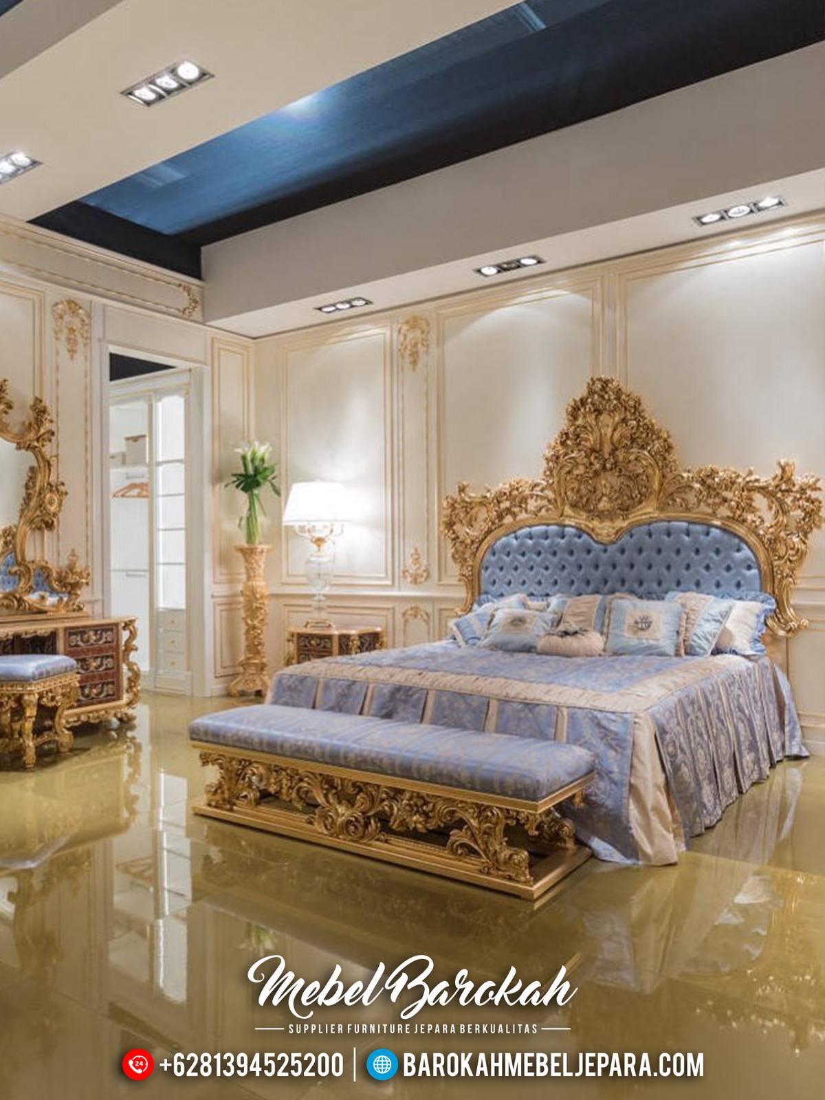 Tempat Tidur Mewah Jepara, Bedroom Set Luxury Classic Ukiran Jepara MB-0449