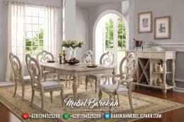 Best Sale Meja Makan Mewah Vintage Classic Furniture Jepara Terbaru MB-0491