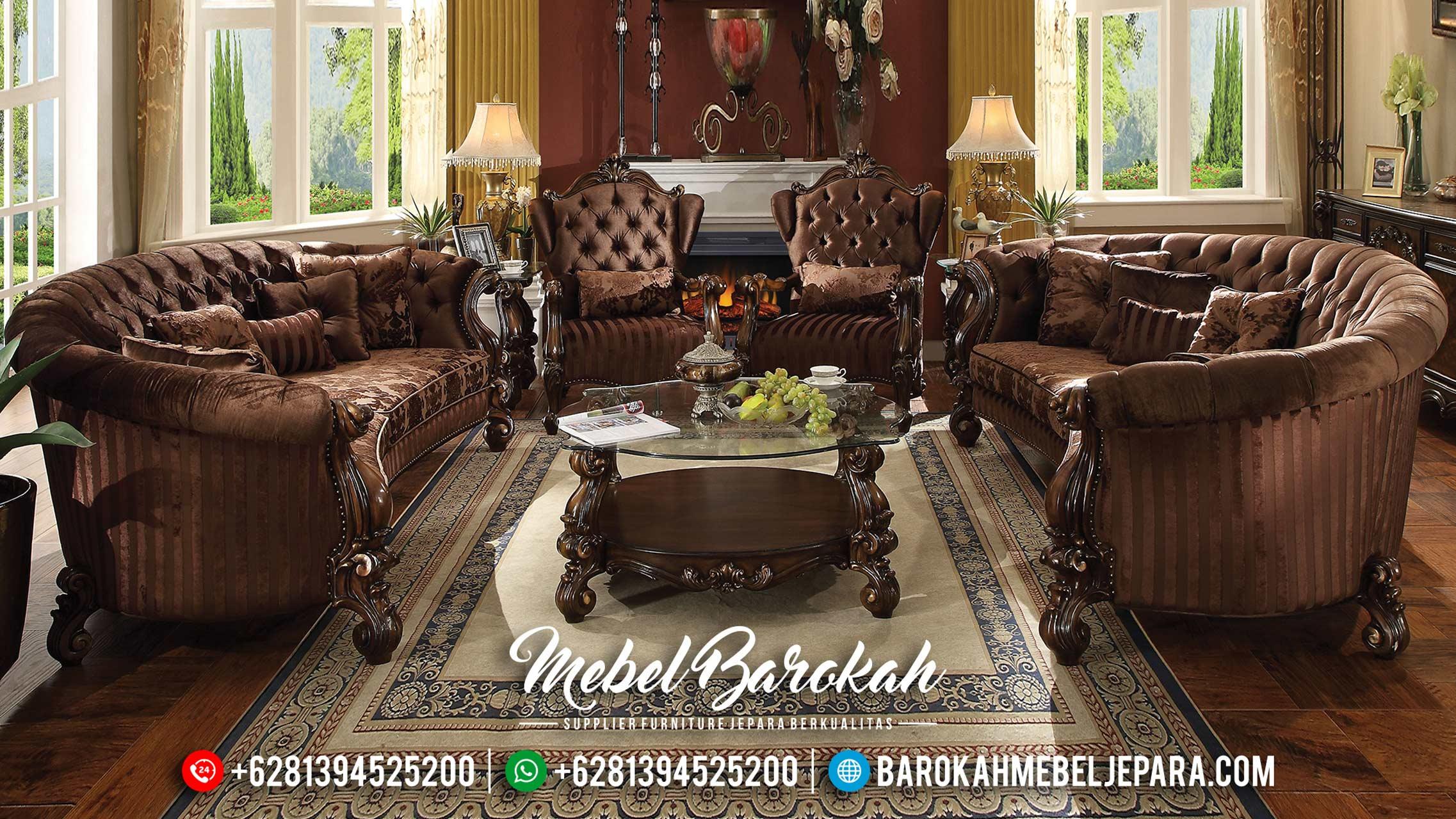 Big Discount Sofa Tamu Mewah Luxury Carving Furniture Jepara Termurah MB-0479