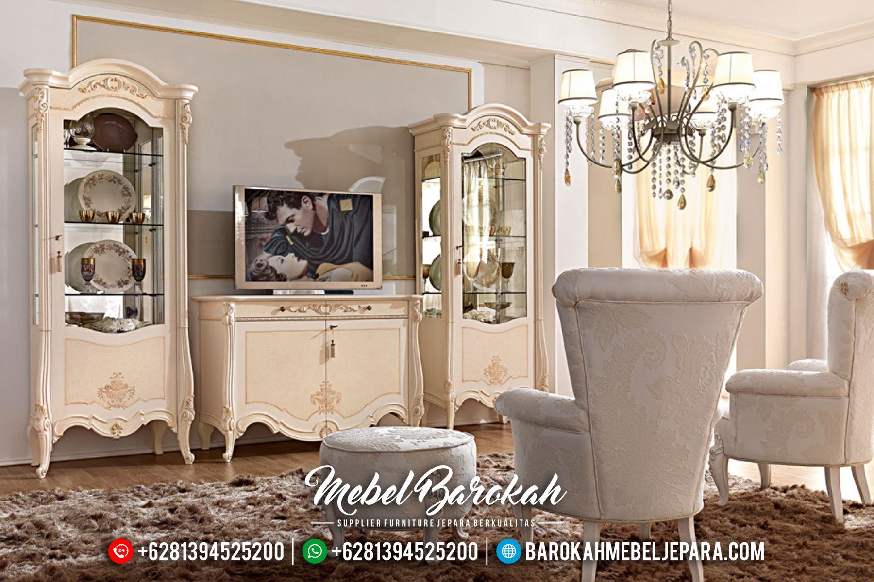 Bufet TV Jepara Mewah Kualitas Terbaik Furniture Jepara Luxury MB-0468