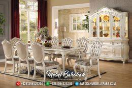 Desain Meja Makan Mewah Klasik Ukiran Jepara Luxury Royals Style MB-0490