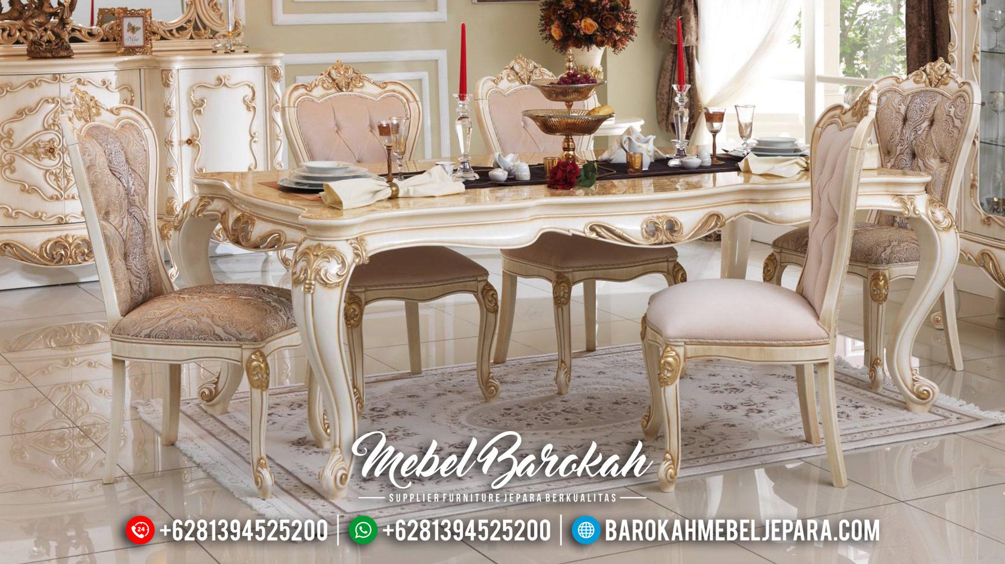 Dining Table Sets Meja Makan Mewah Furniture Jepara Terbaru MB-0459