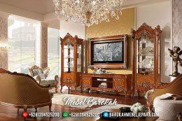 Harga Lemari Hias Bufet TV Mewah Jepara Penjualan Terlaris MB-0465