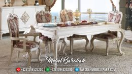 Harga Meja Makan Mewah New Design Luxury Modern Furniture Jepara MB-0458