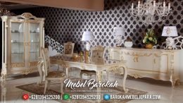 Meja Makan Mewah, Dining Set Table Luxury, Kursi Meja Makan Elegant Jepara MB-0496