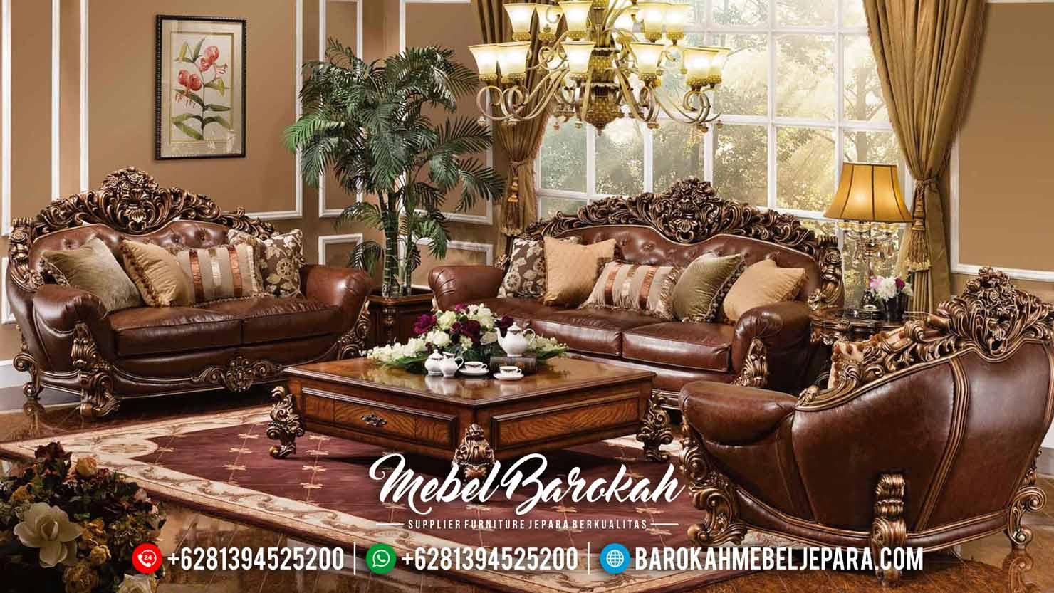 New Living Room Sofa Tamu Mewah Luxury Classic Carving Furniture Jepara MB-0493