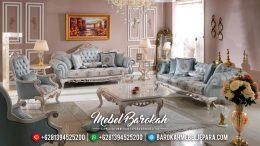 Sofa Tamu Mewah Jepara Ukiran Classic Putih Duco Kombinasi MB-0472