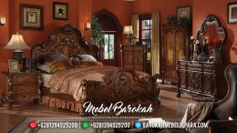 Desain Kamar Set Mewah Cat Natural Classic Luxury Furniture MB-0515