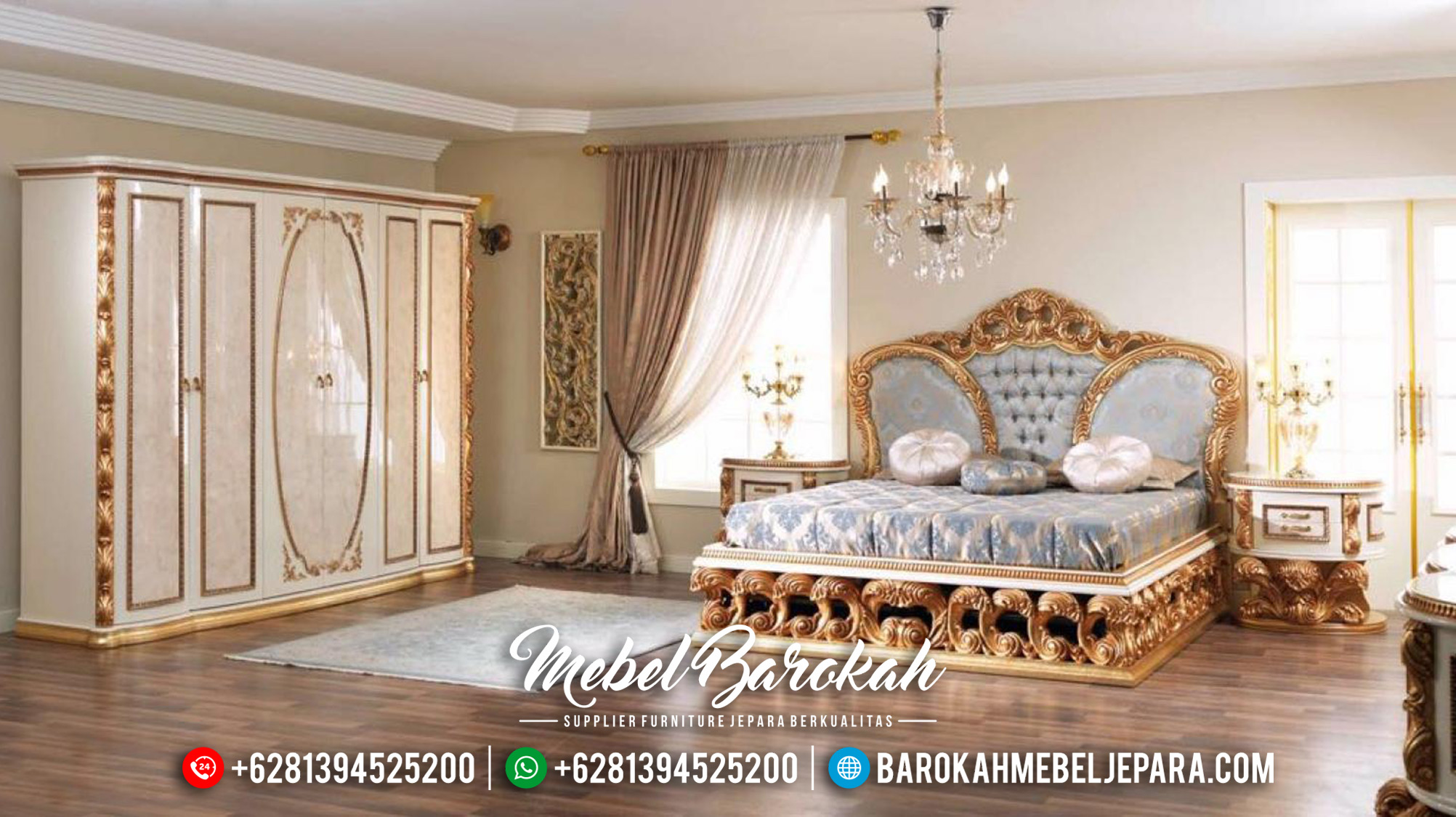 Kamar Set Mewah Jepara Ukiran Classic Luxury Royals MB-0516