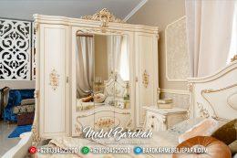 Lemari Pakaian Kaca Mewah Luxury Royals Classic Furniture Jepara MB-0503