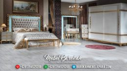 Set Kamar Mewah Ukiran Jepara Golden With White Based Color Duco MB-0519