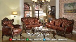 Sofa Tamu Jati Ukiran Mewah Natural Classic Murah Meriah MB-0510