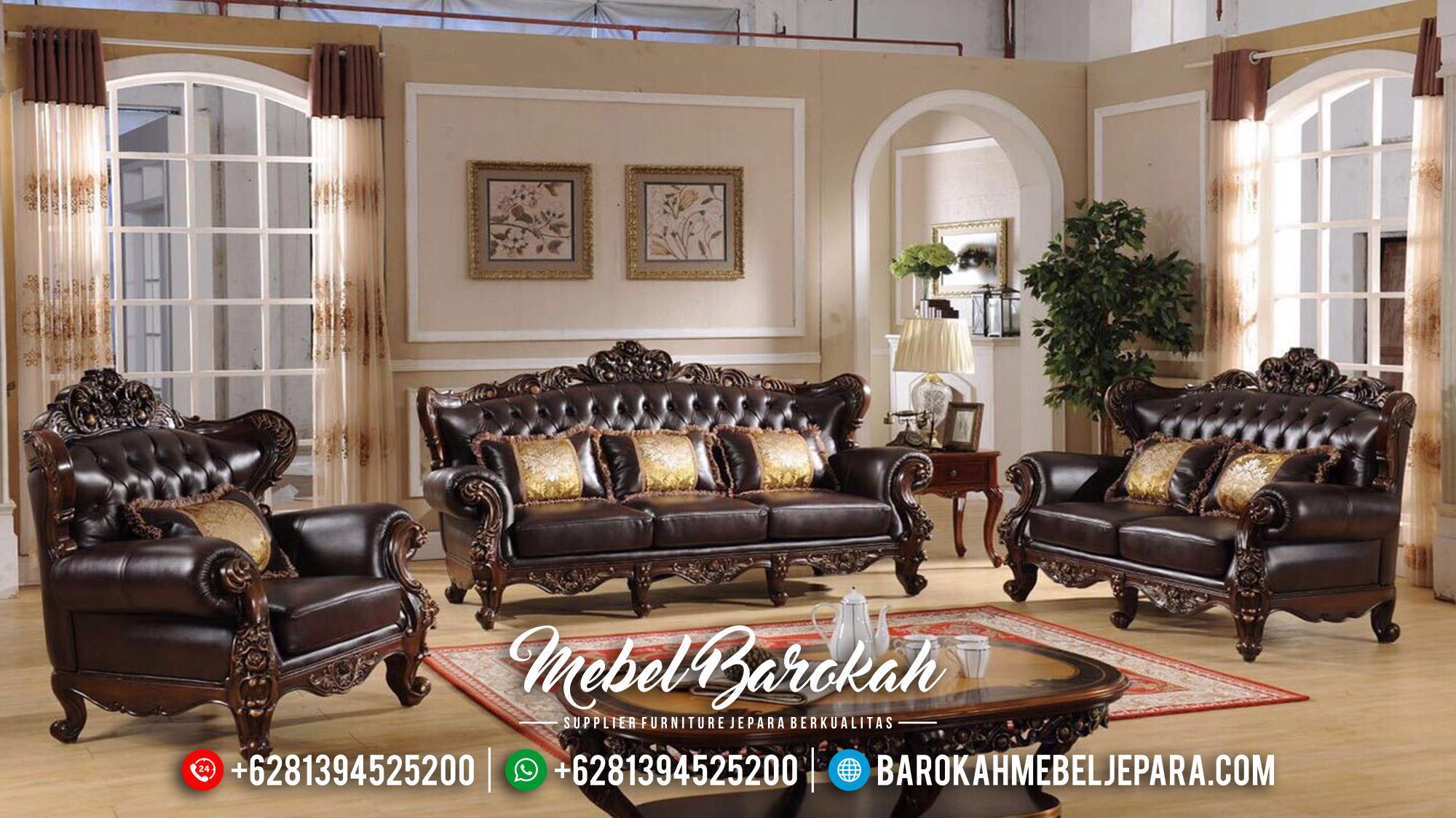 Sofa Tamu Mewah Ukiran Classic Duco Color Furniture Jepara MB-0508