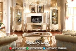 Harga Set Lemari Hias Ukiran Bufet TV Mewah Luxury Classic Jepara MB-0522
