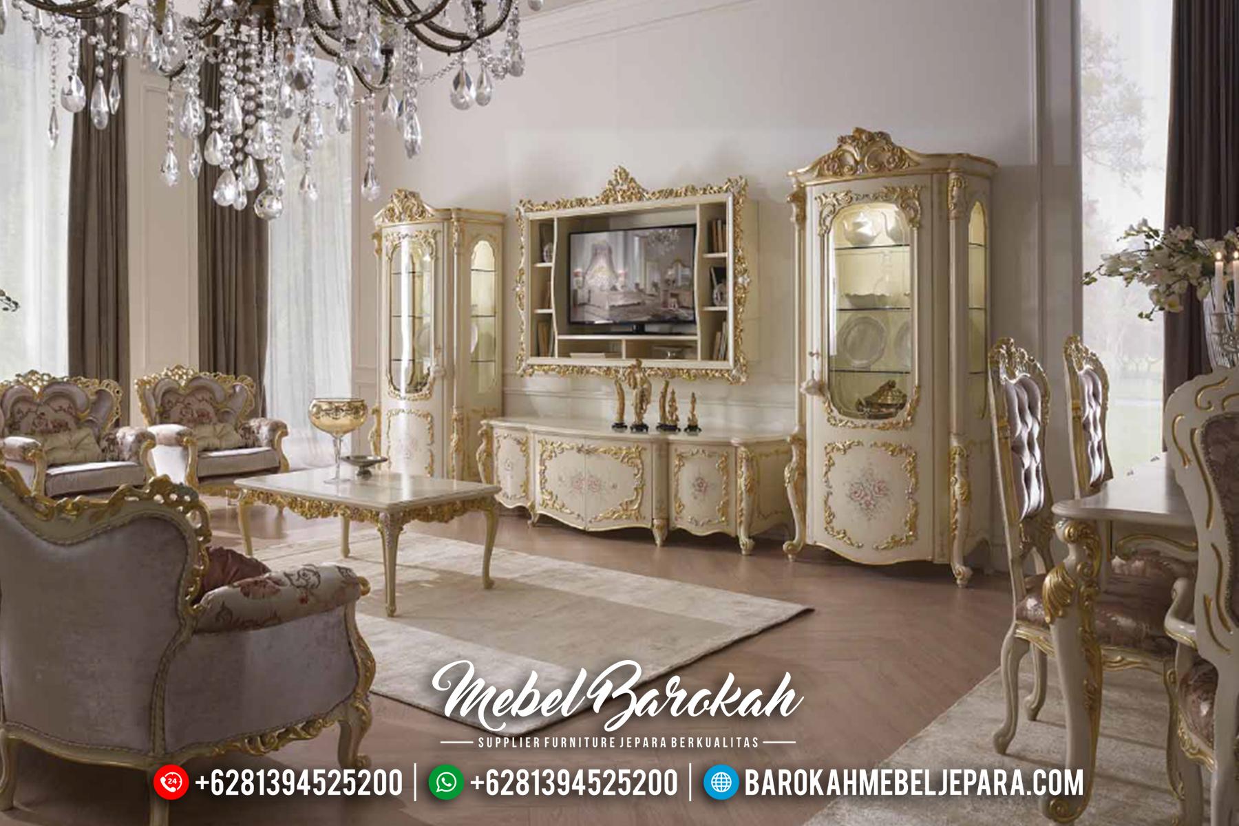 Jual Lemari Hias Set Bufet TV Mewah Ukiran Jepara MB-0521